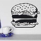 Fast Food Hamburger Brötchen Käse Salat Wandaufkleber Vinyl Innen Küche Aufkleber Removable Tapete 49x42cm
