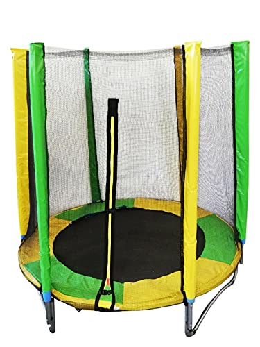 Trampolino per bambini elastico da giardino 1,50 m ø 150 tappeto di sicurezza con molle rete sport bimbi
