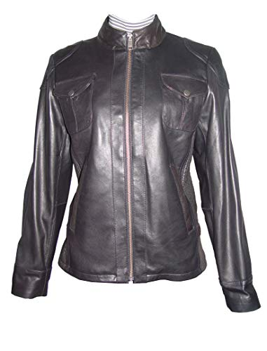 M Size 4047 Best Leather Motorcycle Jackets Womens Soft Real Lambskin Black