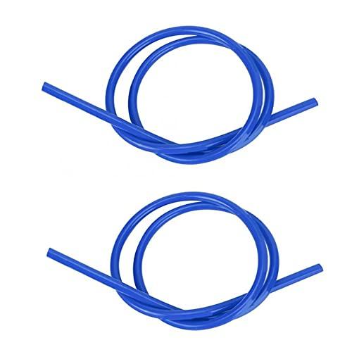 HUATONG YANGJJ YAIKL Alambre de Encendido 2 PCS Automóvil Auto Ignition Wire 8mm Silicona Silicona Carburo Cable de Encendido Alambre de Encendido 1M Accesorios DE Coche ARRESS (Color : Blue)