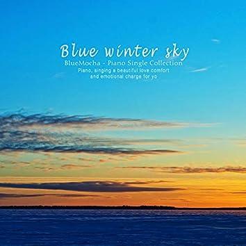 파란 겨울 하늘