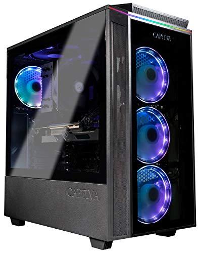 Captiva Highend Gaming PC R60-361 | AMD Ryzen 5 5600X | B550 Mainboard | NVIDIA RTX 3060 12GB | 16GB DDR4 RAM | SSD 480GB | Luftkühlung | RGB Beleuchtung | ohne Betriebssystem | PC Spiele