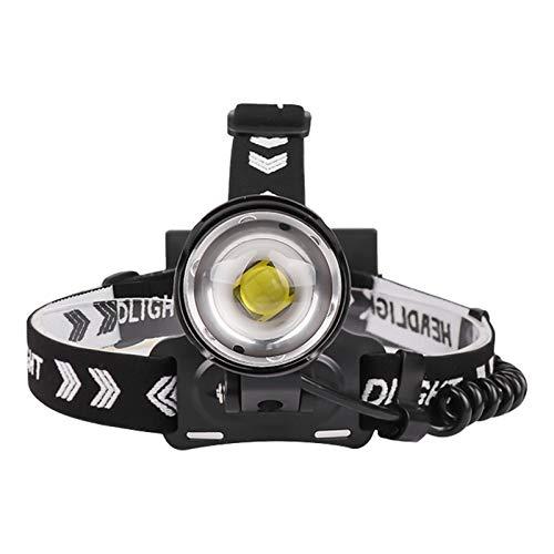 ZHEMAIDZ lámpara de Cabeza LED Potente Faro 5000lm 3-Modo Zoom Faro Recargable 18650 Power Bank Impermeable Camping Head Torch headlamp (Emitting Color : B)