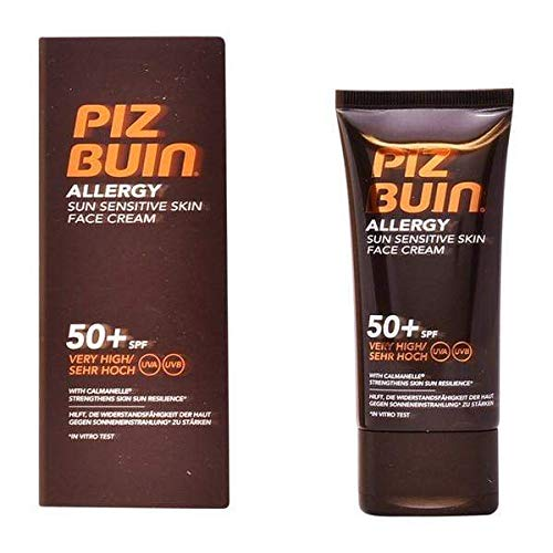 Piz buin - Crema facial solar allergy parches sens.spf 50+, 50 ml, 6 unidades