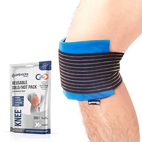 Gelpacks Direct - Kompressions-Kniemanschette - mit Warm- & Kalt-Kompresse - für Knieverletzungen