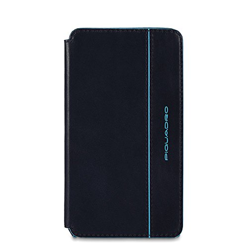PIQUADRO Custodia di Tipo Flip per iPhone 6 Plus, Blu