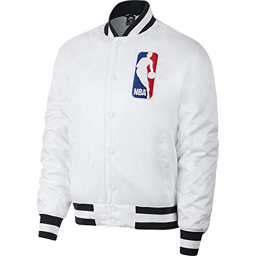 Nike SB x NBA Men's Bomber Jacket (White, Medium)