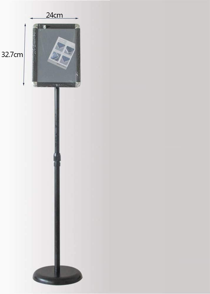 360/° Sign Bracket,Black,Right Angle JX-PEP Poster Stand with Quick-Open Frame Stable Round Base Vertical and Horizontal Angle and Height Adjustable Telescopic