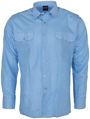 Diensthemd 1/1 Arm T/C hellblau, Größe:L