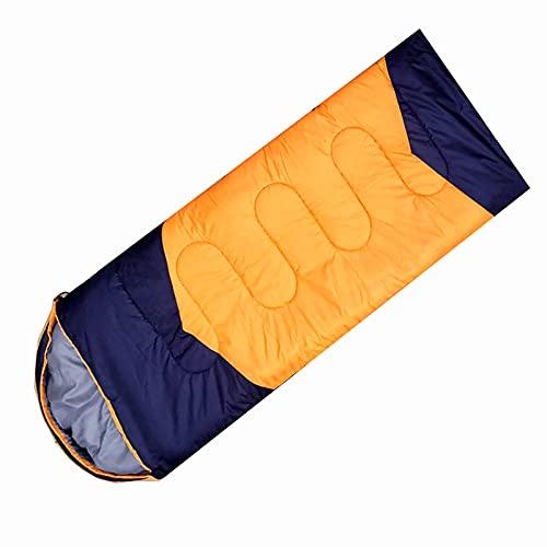 WBias&Belief Saco de dormir para adultos con saco de compresión, ligero, impermeable, para viajes, festivales de música y al aire libre, 1300 g, 1,3 kg, color naranja