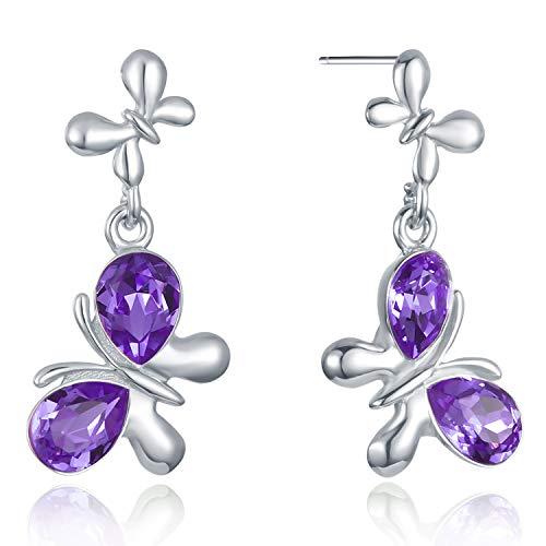 VOGUEA Damen - 925 Sterlingsilber Sterling-Silber 925 Markise Purple Kristall