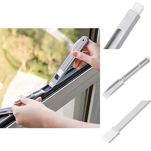 Reinigungsbürste Fenster Bürste, 3 in 1 Brush Abstandspinsel Tastaturbürste Mehrzweck Groove Mini Kleine Bürste Abnehmbarer Bürste Zum Renigen Für Fensterns und Tastaturen