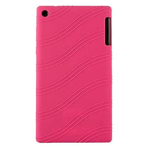 Silicon Case For Lenovo Tab 2 A7-10 A7-10F A7-20 A7-20F Soft Protect Shell For Lenovo Tab2 7.0 A7 20 Tablet case-Roze