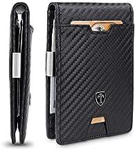 TRAVANDO Mens Slim Wallet with Money Clip AUSTIN RFID Blocking Bifold Credit Card Holder for Men with Gift Box (Carbon)