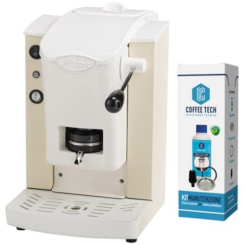 FABER SLOT PLAST MACCHINA CAFFE ESPRESSO CIALDE -100% MADE IN ITALY- 6 COLORI PLASTICHE BIANCO (AVORIO)+ 15 CIALDE EMOZIONI QUOTIDIANE + KIT MANUTENZIONE