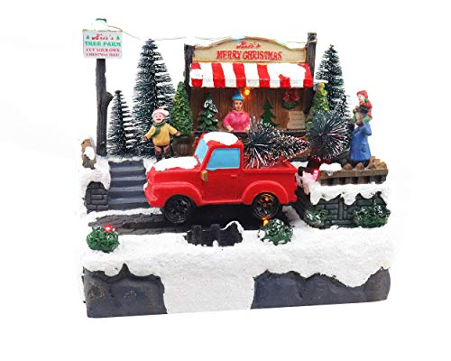 Christmas Tree Shopping| Animated Pre-lit Musical Christmas Village | Perfect addition to your Christmas Indoor Decorations & Christmas Village Displays