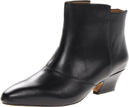 Hot Sale Earthies Women's Del Rey Ankle Boot,Black Calf Leather,9 M US