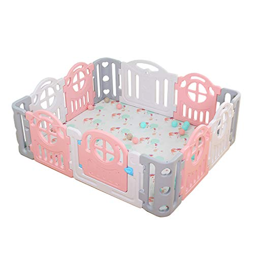 Great Features Of CHULQY Baby Fence Home Children's Playground Indoor Playground Safety Game Fence F...