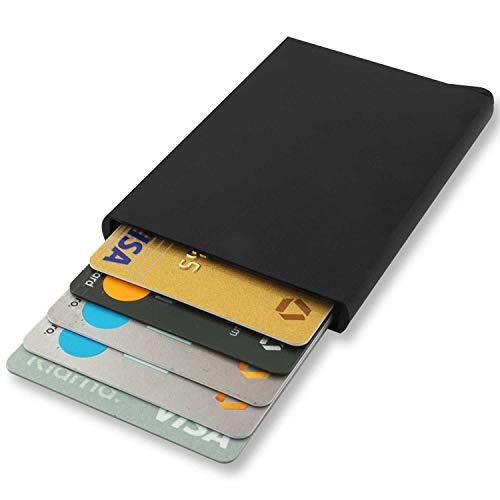 Aluminium Karten Schutzhülle, Mini Geldbörse, Slim Wallet Kreditkartenetui RFID Blocker, Herren Kartenetui für 6 Karten, Kreditkartenhülle mit RFID Abschirmung, cardholder Herren, reisepass etui