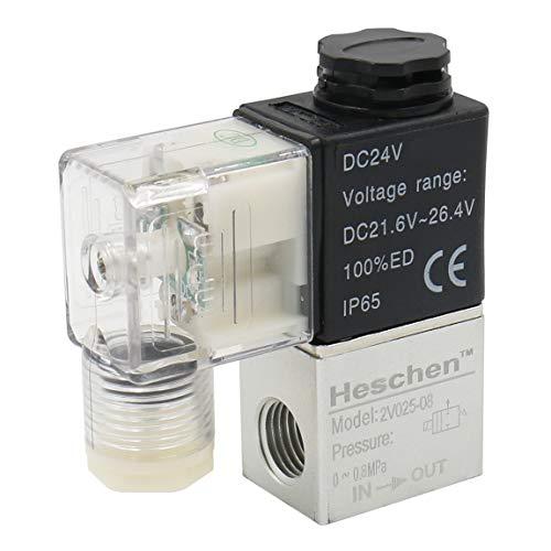 Heschen Elektrisches pneumatisches Magnetventil 2V025-08 24VDC PT1/4 2/2 Wege normal geschlossen