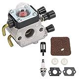 Cikonielf Kit Reemplazo Carburador Herramientas Jardinería al Aire Libre Kit Reemplazo Carburador de Metal para FS38 FS45 FS46 FS55 FS55R 4140-120-0619