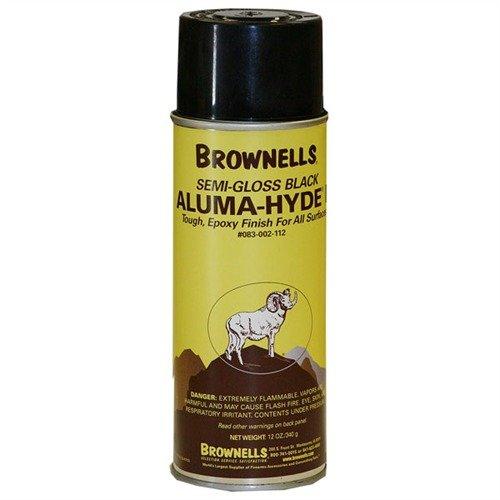 Brownells Aluma-Hyde 2 Epoxy Based Firearms Finish Aerosol Can Semi Gloss Black