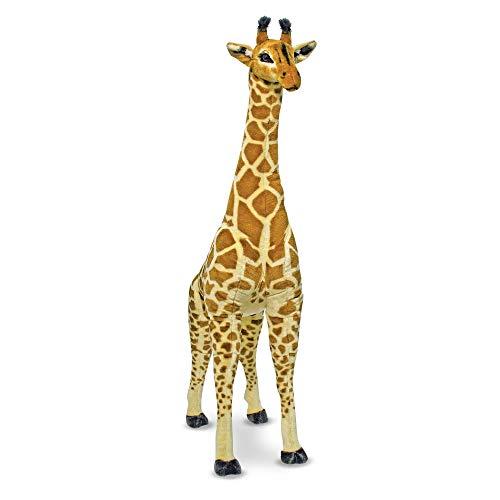Melissa & Doug- Giraffa Peluche, Colore Nero, Marrone e Giallo, 12106