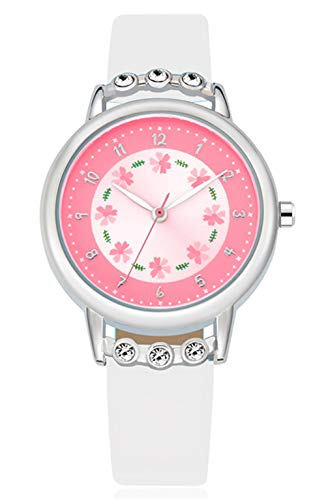 Girls Watch Adorable White Leather Strap