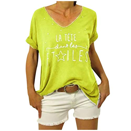 Find Bargain Coupondeal LATETE ETILES Women O-neck Print Plus Size Loose Short Sleeves T-shirt Blous...
