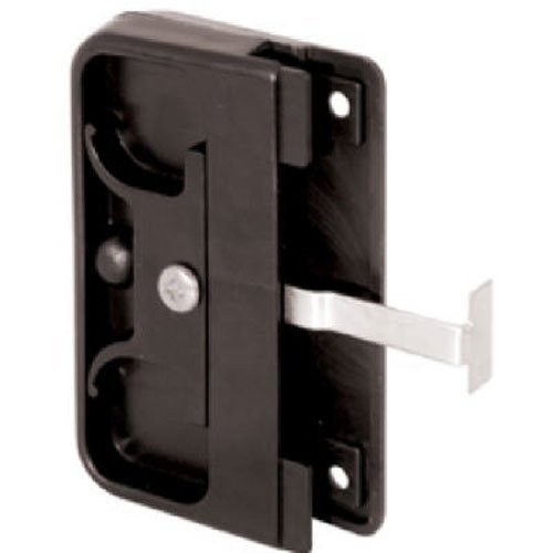Slide-Co, Black Prime-Line Products 121740 Mortise Style Screen Door Latch and Pull, Plastic