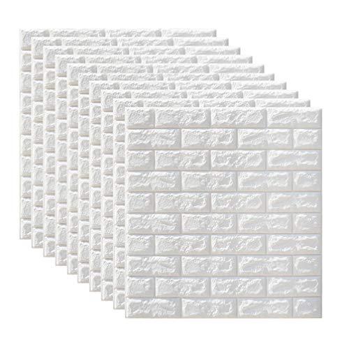 BESPORTBLE 10Pcs 3D Ziegel Wandaufkleber Wandpaneele Schälen Und Kleben Tapete Wandkunst Dekor