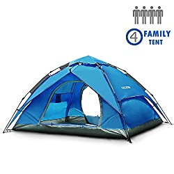 NACATIN 3-4 Persons Family Camping Tent