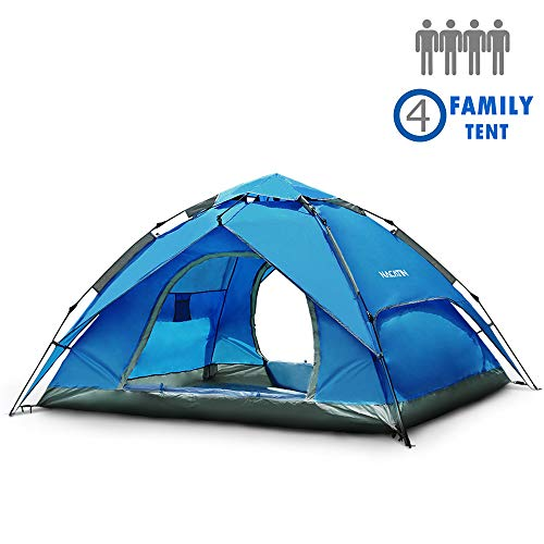 NACATIN 3-4 Person Family Camping Tent,Automatic...