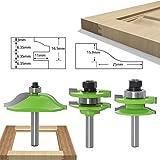 3PC / Set 8MM caña fresa de talla de madera panel levantado la puerta del gabinete Router Bit Set 3 Bit Ogee la carpintería Herramienta fresadora Bits (Size : 01)