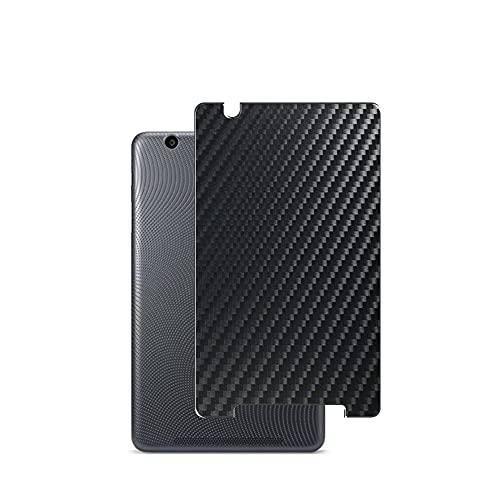 VacFun 2 Piezas Protector de pantalla Posterior, compatible con Acer iconia one 8' B1-820 one8, Película de Trasera de Fibra de carbono negra Skin Piel
