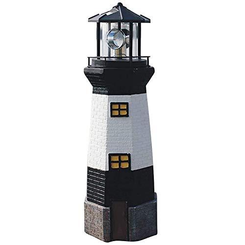 HLPIGF Luz Decorativa del Faro LáMpara de Faro LED Solar Impermeable -para Fiesta Terraza Patio Camino, JardíN Al Aire Libre