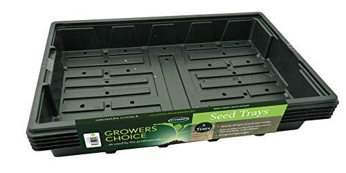 Bosmere N251 professionelle Samenanzucht-Halbschale, schwarz, 5 Stück