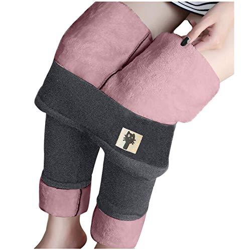 Briskorry Winter warme Fleece gefütterte Leggings Socken warme thermische Leggings Dicke Schwarze Leggings Boden für Frauen Mädchen