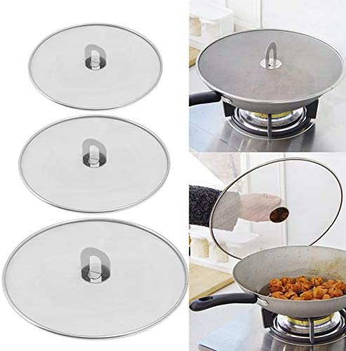 3 Pieces Grease Splatter Screen Splatter Screen for Cooking Pan Fine Mesh Stops Stove Oil Guard product image