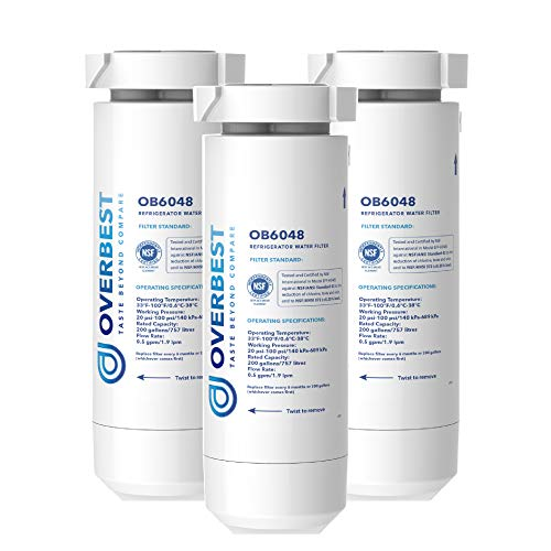 Overbest XWF Replacement for GE XWF Refrigerator Water Filter, Pack of 3