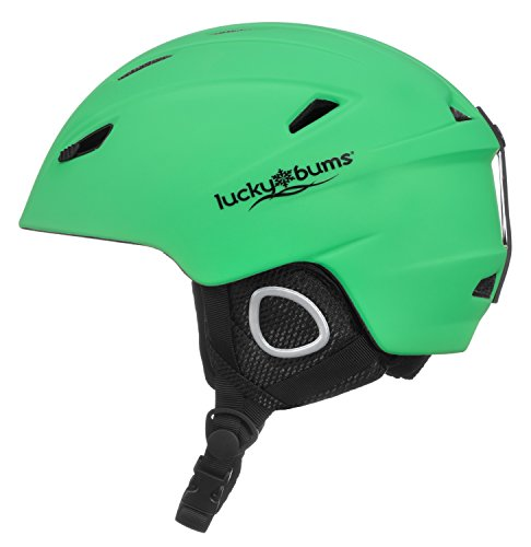 Lucky Bums powder series snow helmet, Green, Extra Large