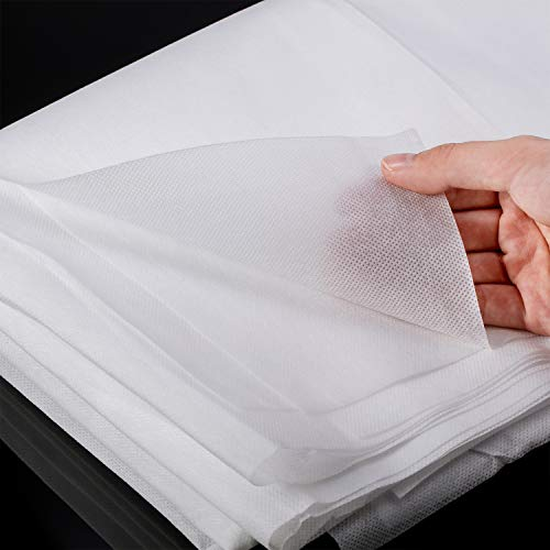 2 Pieces 63 x 39 Inch White Non-Woven Fabric Filter Disposable, Anti Splash Resistant Non-Woven Interfacing Fabric Lightweight Polyester for Handwork DIY Craft (White)