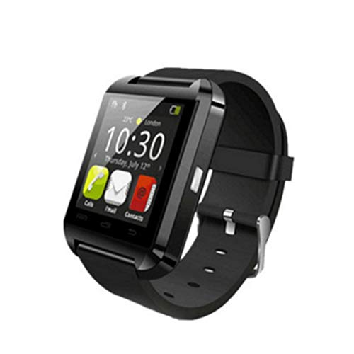 Swiftswan U8 Podómetro Bluetooth Smart Watch Heart Rate Monitor 1.44 Pulgadas OLED Impermeable IP67 Smartwatch Health Tracker, Negro