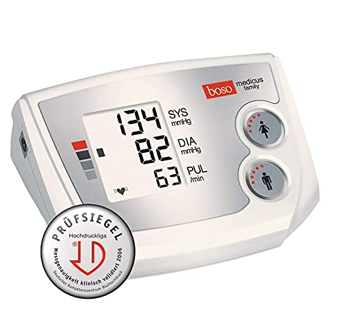 Boso Medicus Family vollautomatisches Blutdruckmessgerät für den Oberarm mit Universalmanschette 22-42 cm