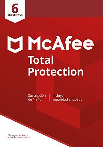 McAfee Total Protection 2020, 6 Dispositivos, 1 Año, Software Antivirus, Seguridad de Internet, Manager de Contraseñas, Múltiples Dispositivos, PC Mac Android iOS, Edición Europea, Descarga