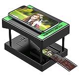 Rybozen Mobilephone Escáner de Negativos y diapositivos 35 mm, Convierte Tus Negativos y Diapositivas en Fotos Digitales,Utiliza u Smartphone– No Requiere Ordenador Negro…