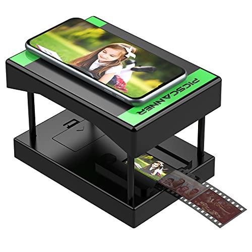 Rybozen Slide Scanner, scansiona e salva i tuoi negativi e diapositive 24x36mm con la fotocamera del tuo smartphone. Lo scanner pieghevole e portatile è dotato di illuminazione a LED.…