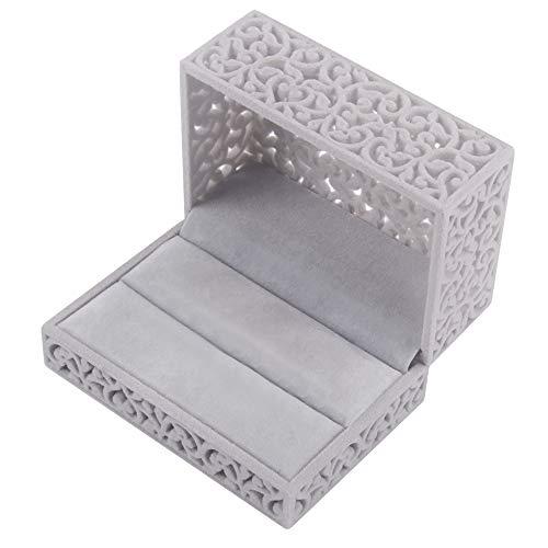 DesignSter Terciopelo Anillo de Caja/Zafiro Hueco Caja Joyero/Anillo de Boda Caja Velvet Ring Box para Anillos