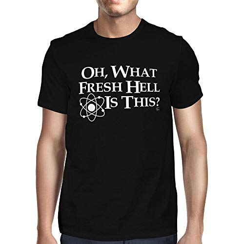 1Tee Mens Oh What Fresh Hell Is This? T-ShirtShort Sleeved ShirtBlack3XL
