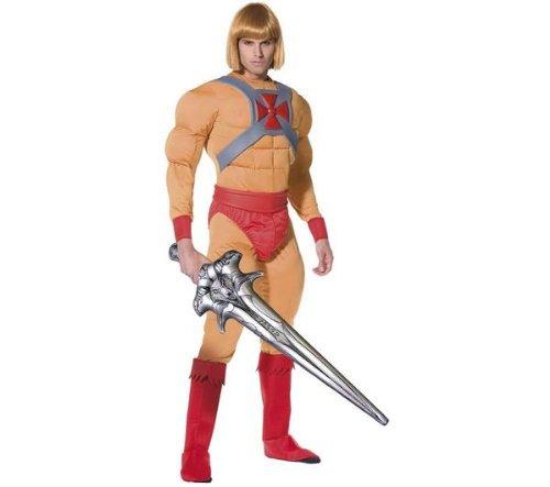 SMIFFY S Erwachsenen-Kostüm Prince Adam Muskelkostüm - He Man und die Masters of the Universe - Größe M